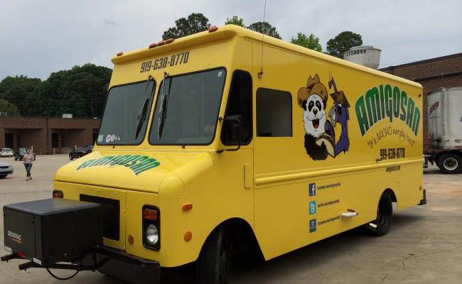 Amigosan Food truck Wrap