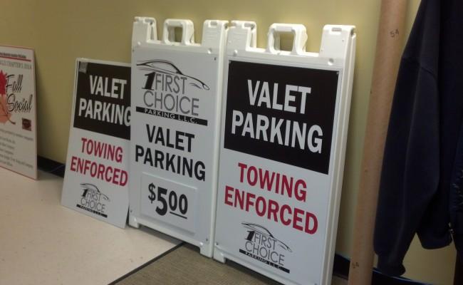A-Frame Signs – First Choice Parking