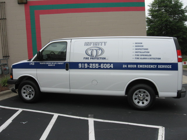 Cut Vinyl Vehicle Graphic Infinity Fire Protection