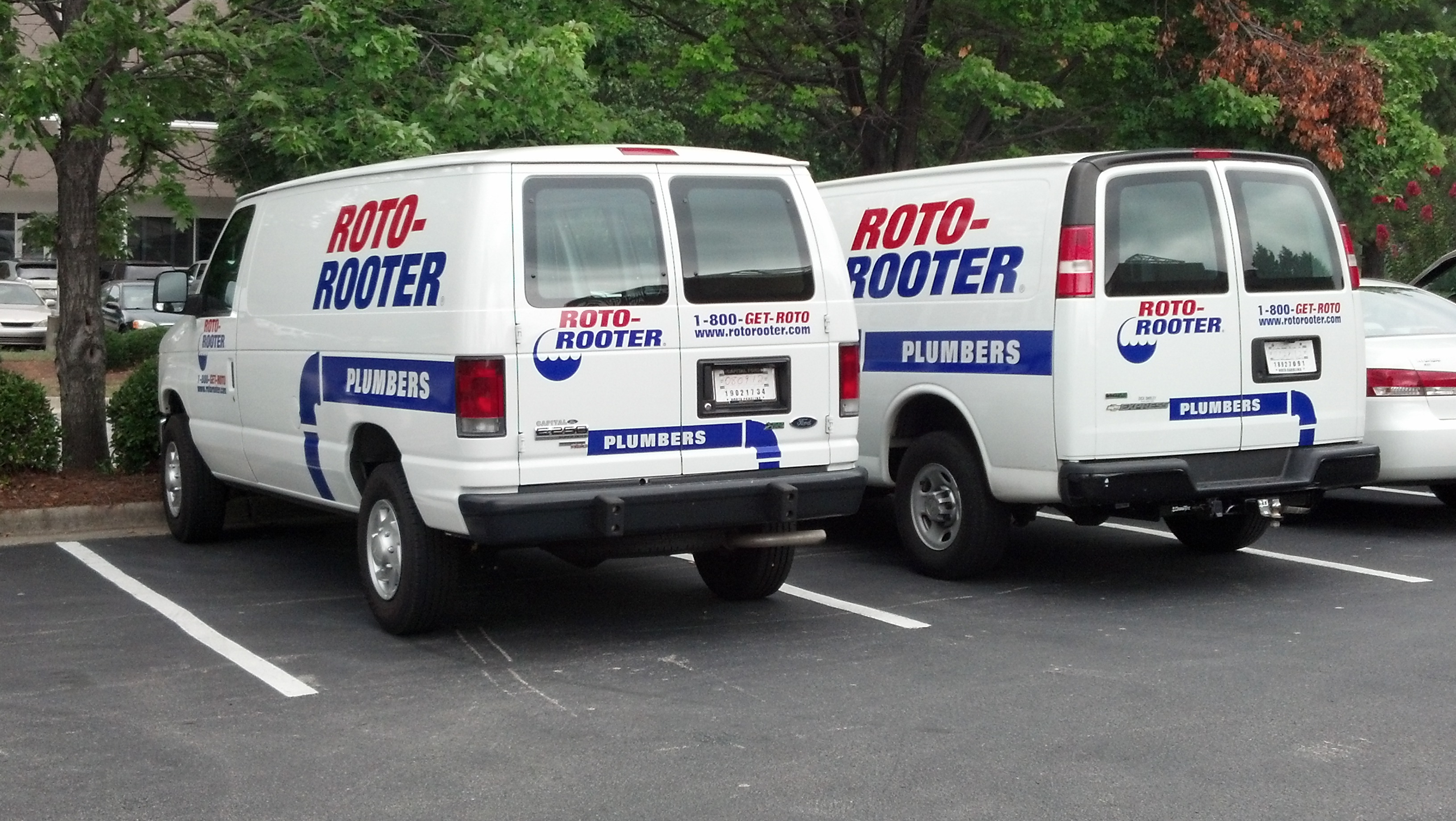 Roto Rooter Corporate Vehicle Graphic Installation Signergy