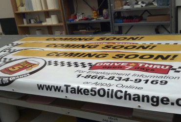 Take 5 Oil Change – Coming Soon Banners
