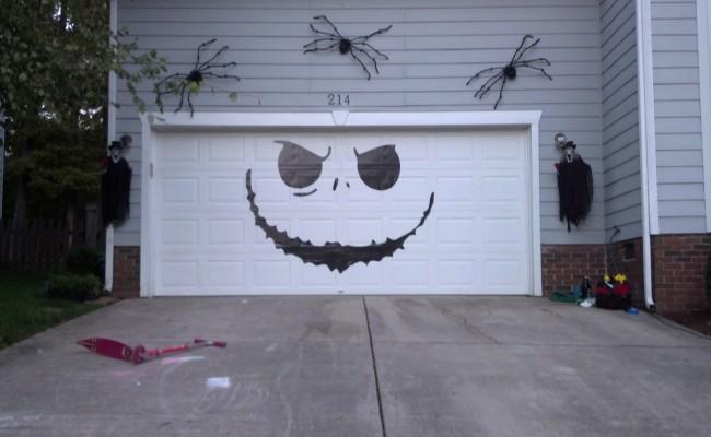Garage Door Jack Skellington