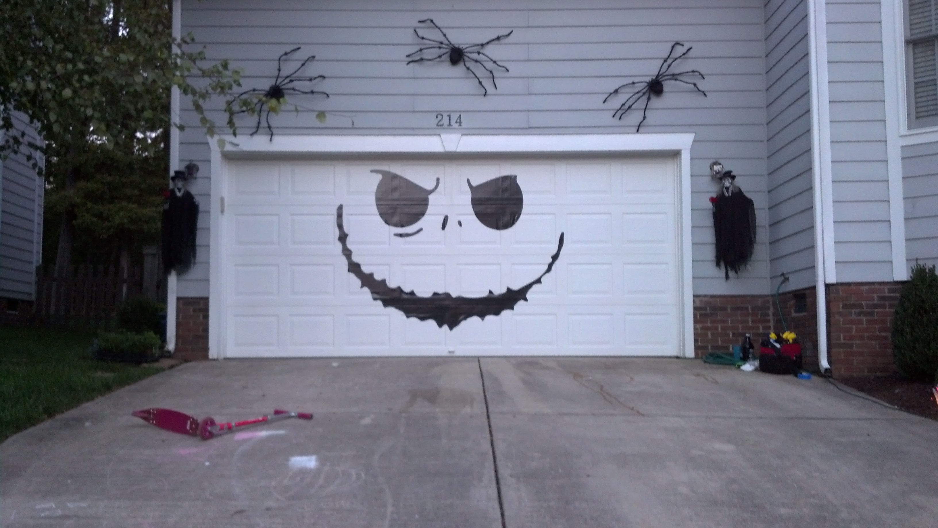 Garage Door Jack Skellington