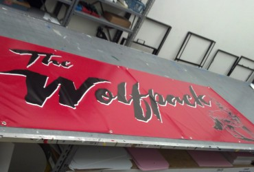 Breakaway banner for Pop Warner football team