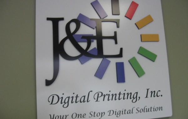 Custom PVC Wall Logo – J&E Digial Printing