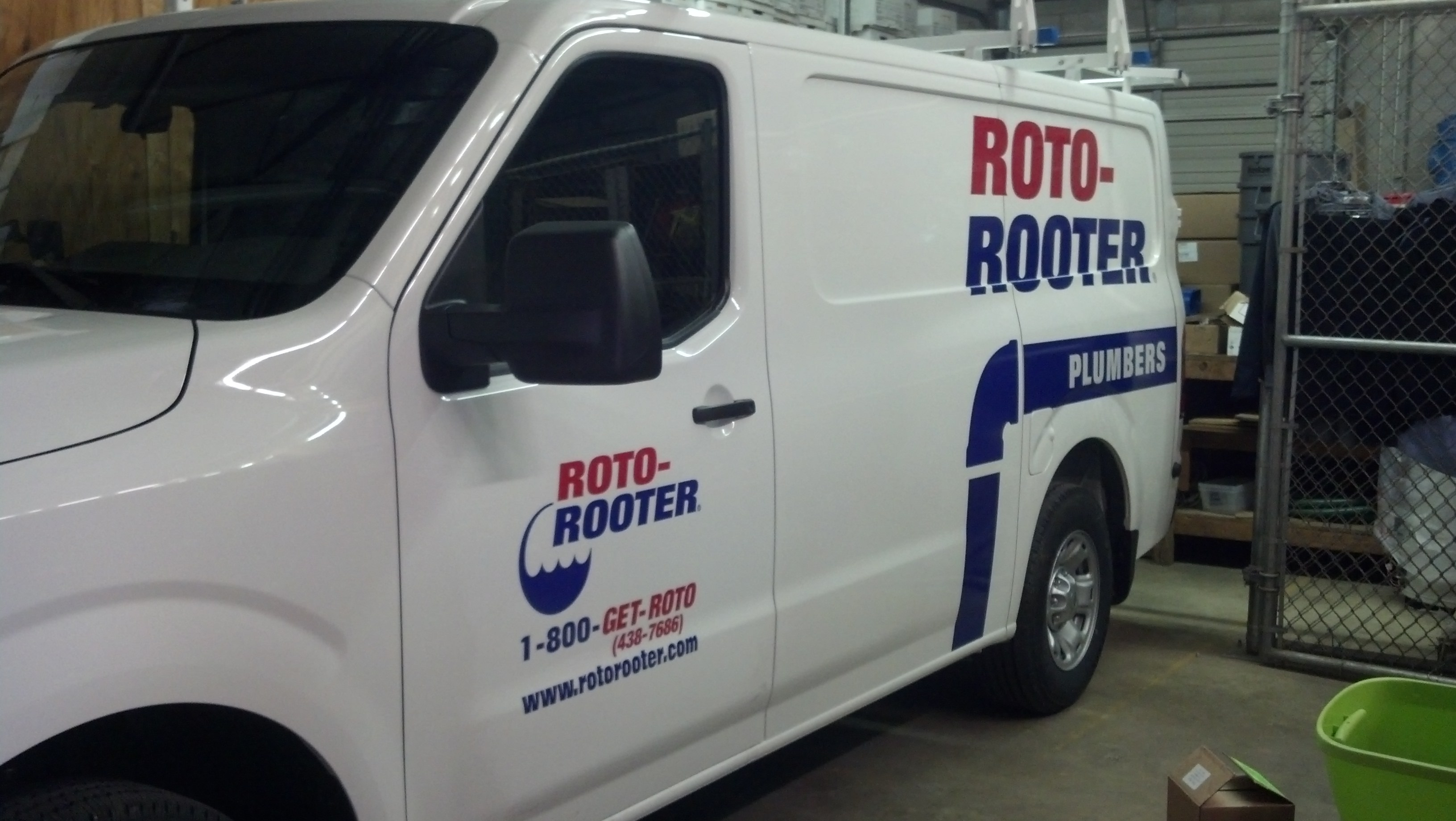 Capital Ford Raleigh >> Roto-Rooter large van graphics installations | Signergy