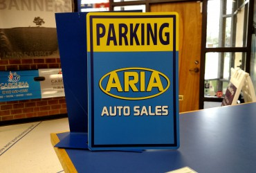 Aria Parking Sign