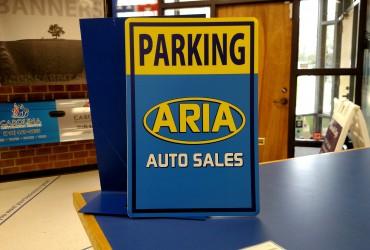 Aria Parking Sign