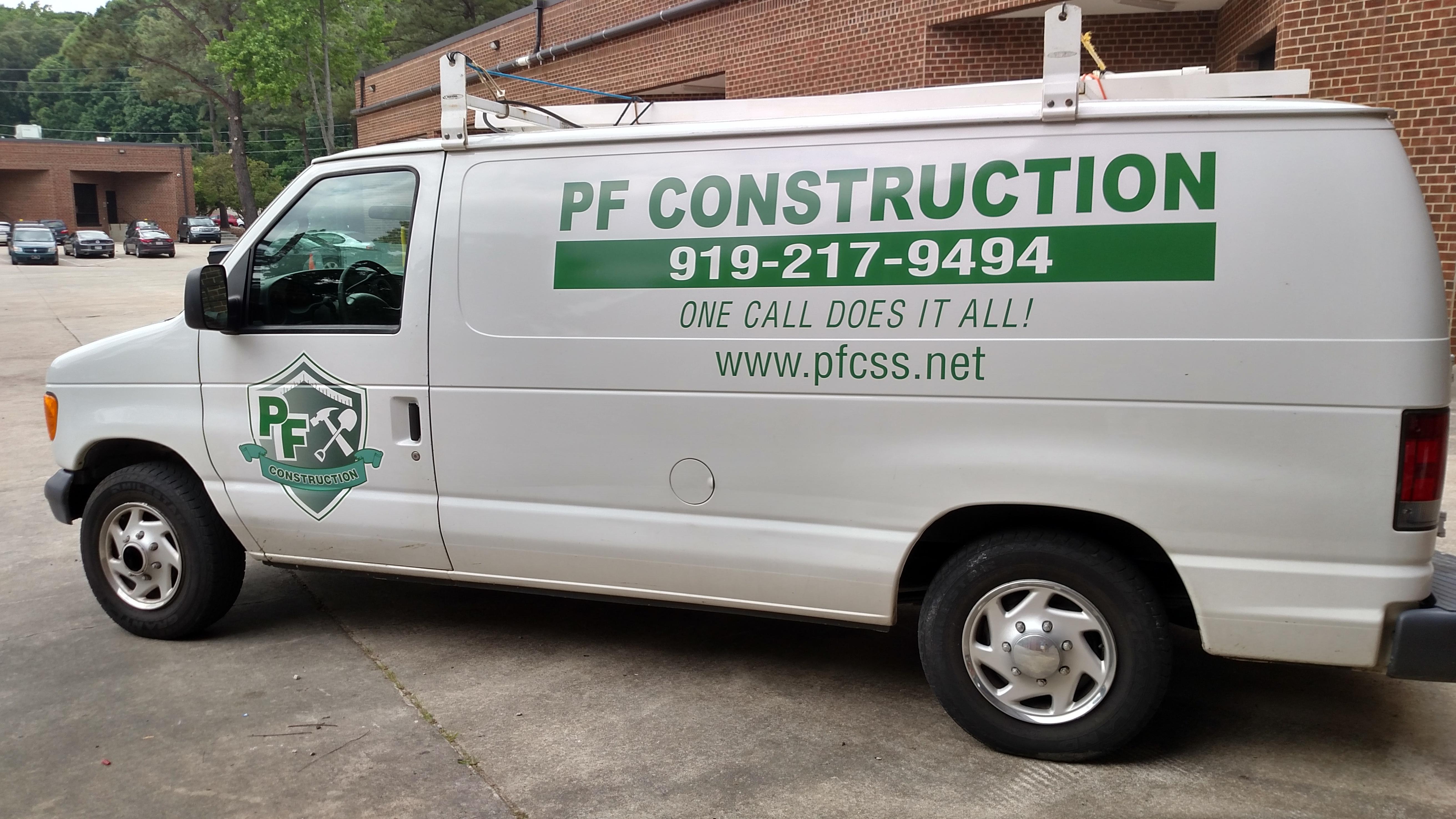 Pf Construction Van Signergy