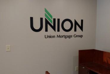 Union Mortgage – Flat Cut Aluminum Letters