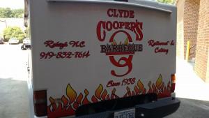 Vehicle graphics Clyde Cooper's