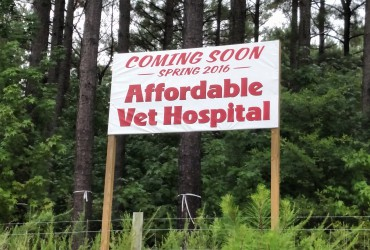 Custom Sign – Affordable Vet Hospital