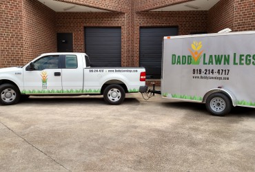 Truck and Trailer Graphics for Daddy Lawn Legs