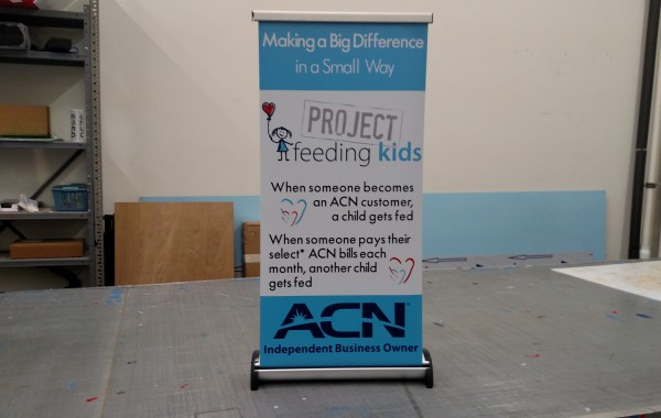 Phoenix Table Top Banner Stand for ACN