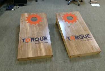 Cornhole boards for Torque Automotive