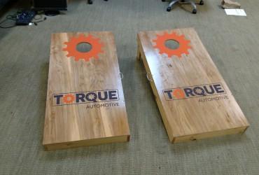 Cornhole boards for Torque Automotive