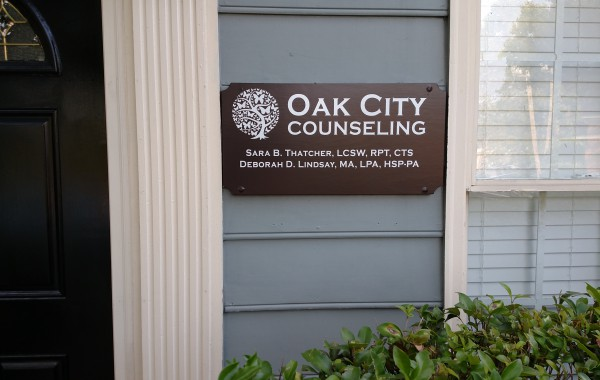Oak City Counseling Exterior Wall Sign