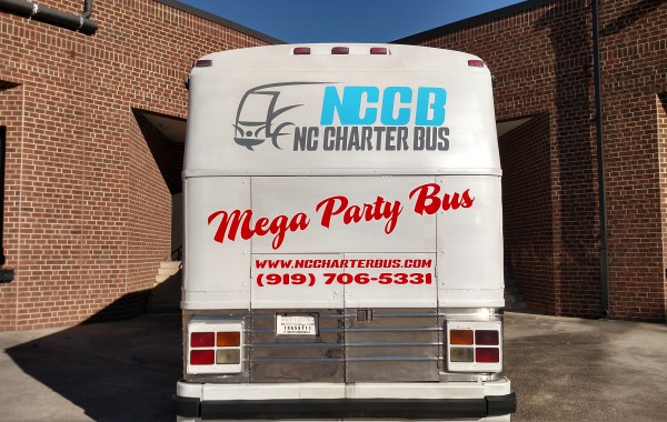 Vehicle graphics for NC Charter Bus