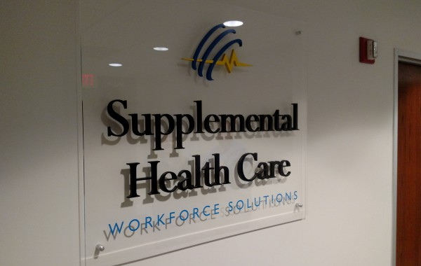Interior Wall Sign for Supplemental Healthcare