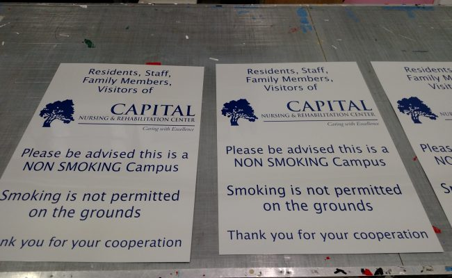 Aluminum signs for Capital Nursing and Rehabilitation