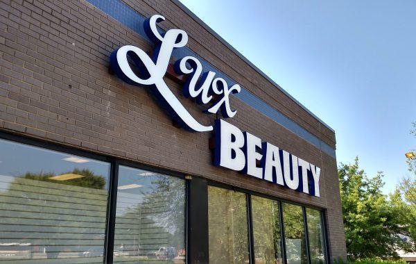 Lux Beauty Channel Letters